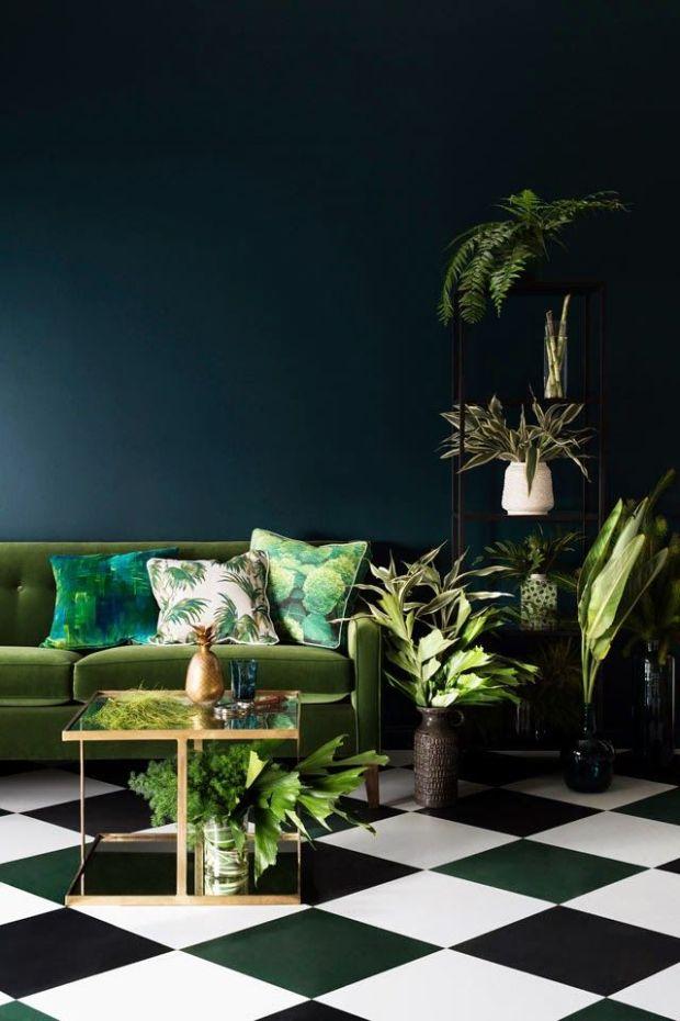 green interior
