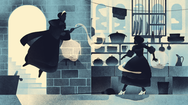 V&A museum animation Cinderella France2 illustration