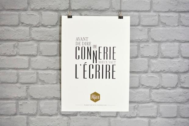 affiche-typographie-le-papier-avant-de-dire-une-connerie-mieux-vaut-l-ecrire-1